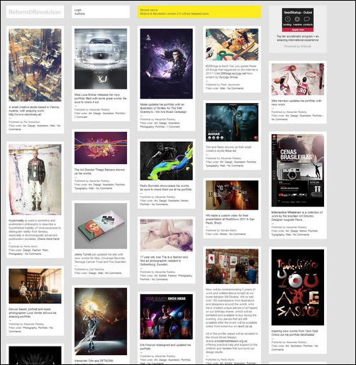 ReformRevolution Creative Tumblr Blog Designs