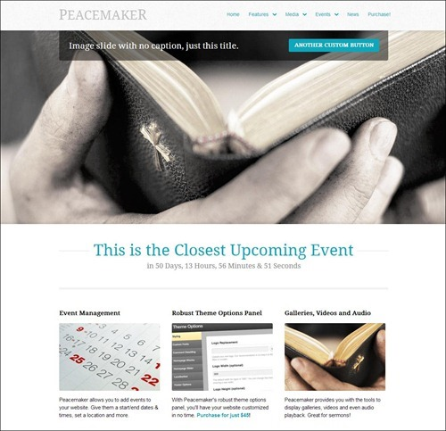 peacemaker church websites templates