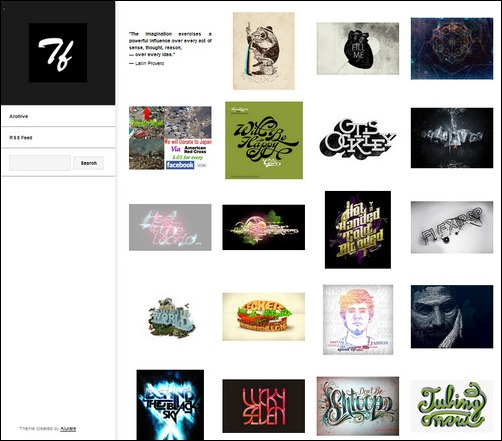 Typography Feed Creative Tumblr Blog Designs