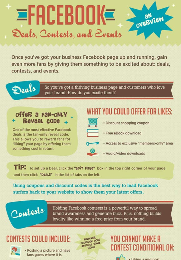 Facebook: Understanding Contests, Deals and Events