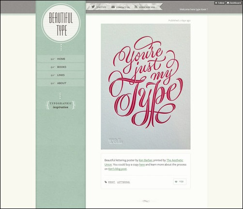 Beautiful Type Creative Tumblr Blog Designs