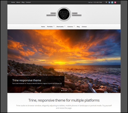 Trine Responsive WordPress Theme
