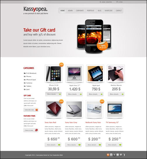 Kassyopea wordpress commerce theme