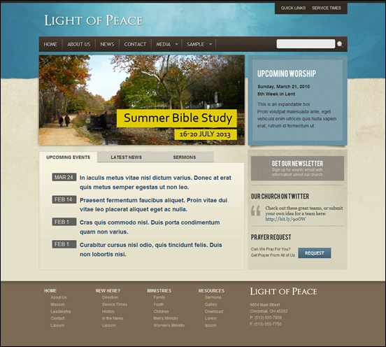 Light of Peace - WordPress Template