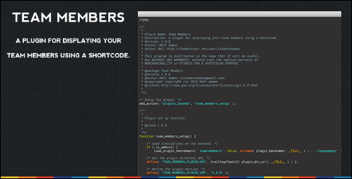 Team Members Shortcode Plugin