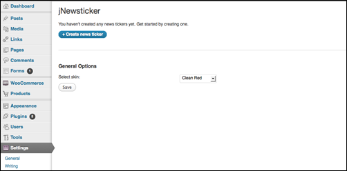 jNewsticker for WordPress