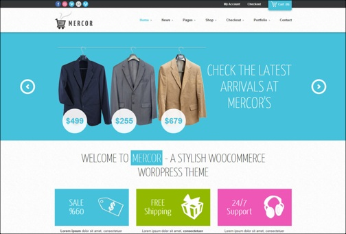 Mercor Responsive WordPress theme