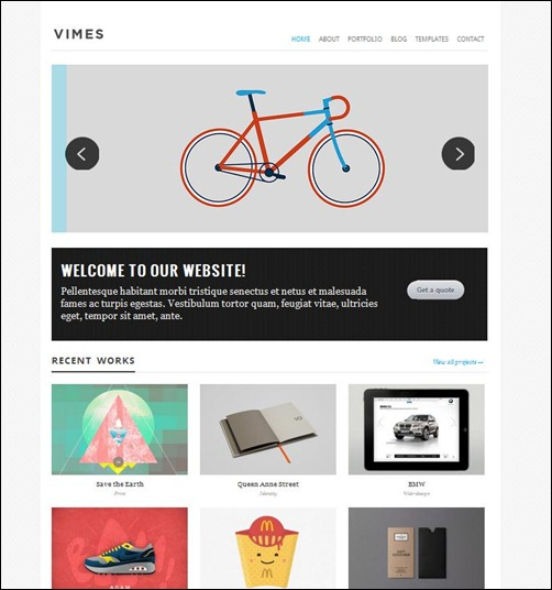 vimes-simple-wordpress-theme