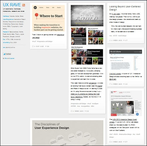 UX Rave Creative Tumblr Blog Designs