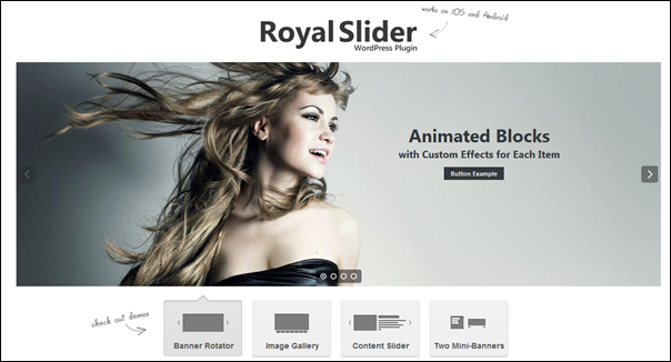 ROYAL SLIDER - Touch Content Slider for WordPress