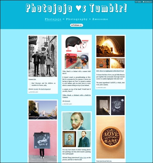 Photojojo Creative Tumblr Blog Designs