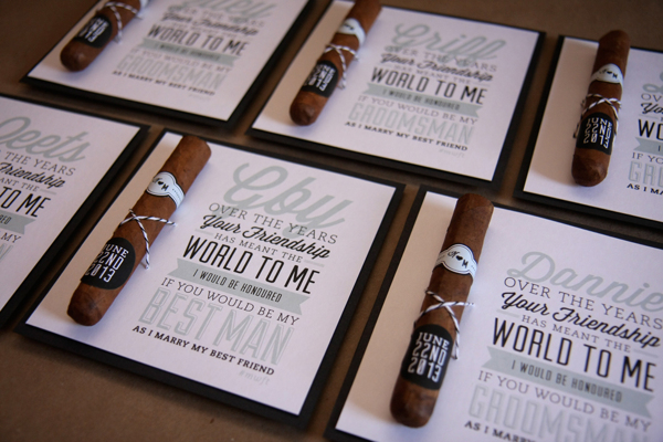 wedding invites cigars printed work