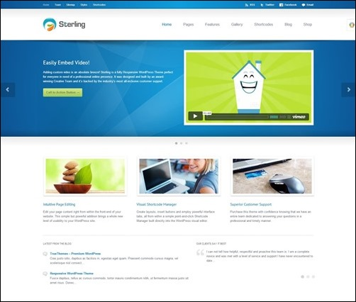 sterling best wordpress theme