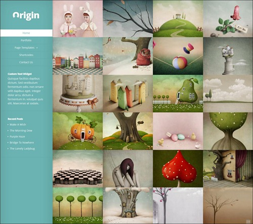 origin photography website templates