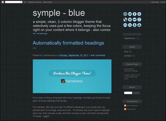 symple Blogger Template