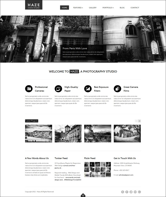 Haze - Beautiful WordPress Theme