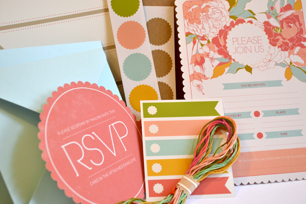 wedding invitation pink kits designs