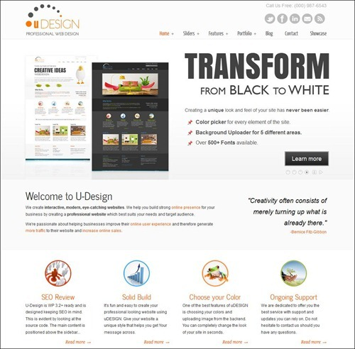 u-design wordpress business theme