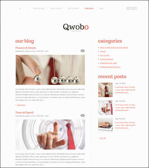 White-blog-WordPress-theme