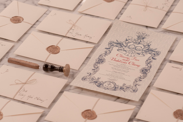 envelope vintage wedding seal invite