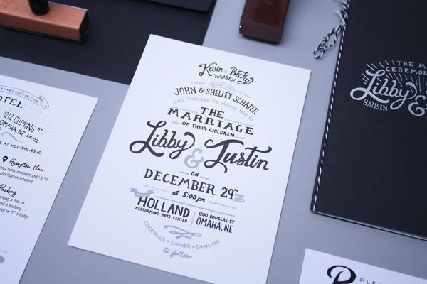 black white text print typography wedding