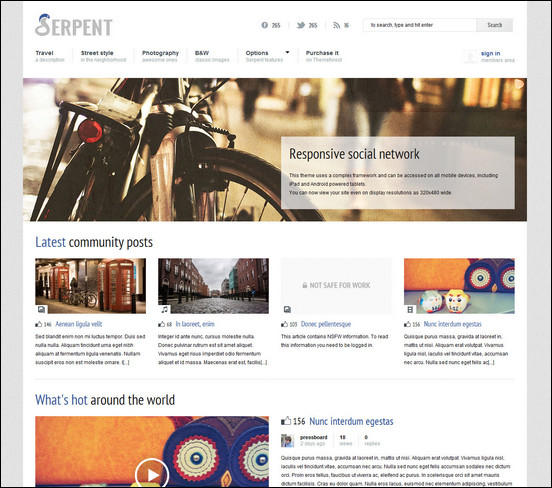 serpent-responsive-social-network-theme