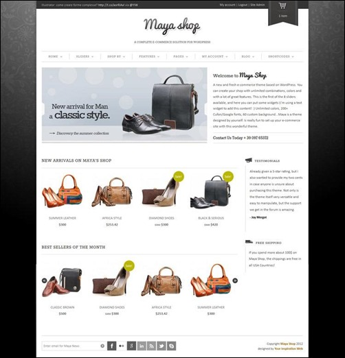 maya-shop best wordpress theme
