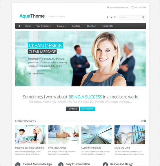 aqua-responsive-multipurpose-wordpress-template