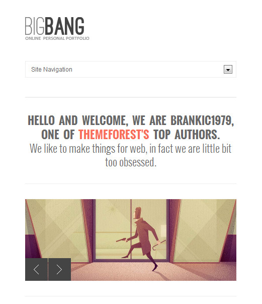 bigbang 2 responsive wordpress theme