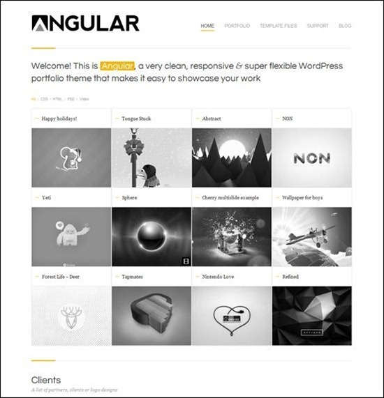 angular best wordpress themes