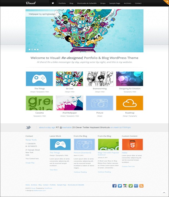 Visual HTML5 WordPress Theme