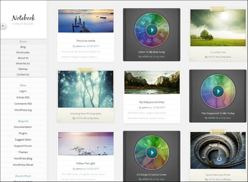 notebook-wp-theme