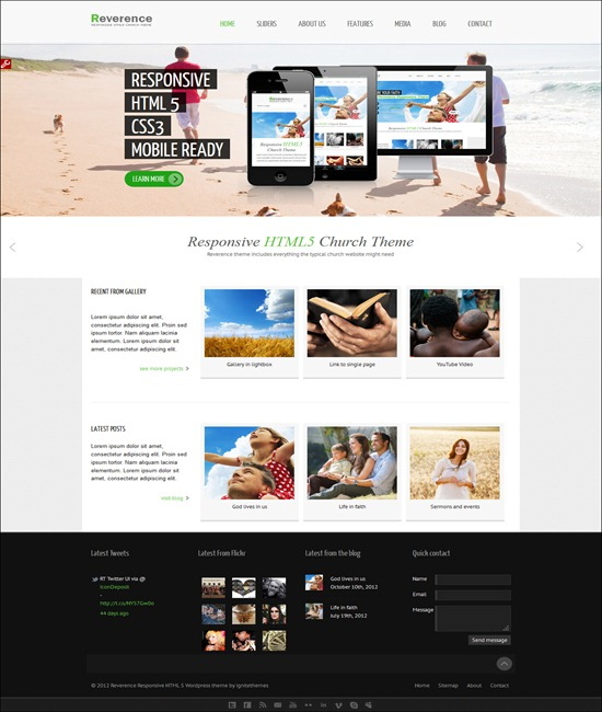 Reverence - Church Responsive WP HTML 5 The