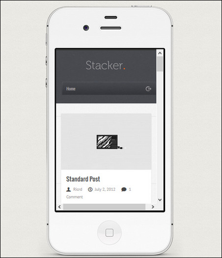 stacker wordpress mobile theme
