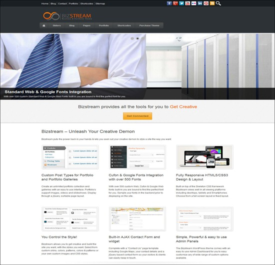 Bizstream - Creative HTML5/CSS3 WordPress Theme