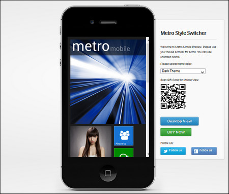 metro WordPress mobile theme