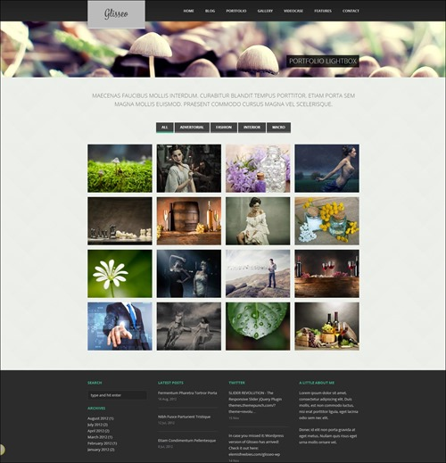 glisseo-photography-website-templates