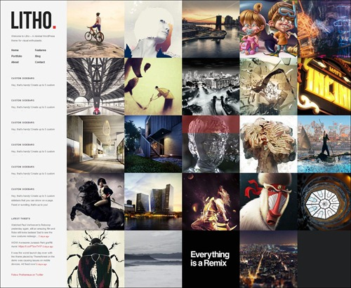 litho photography website template