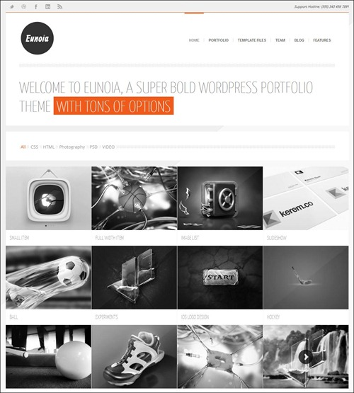 eunoia photography website template
