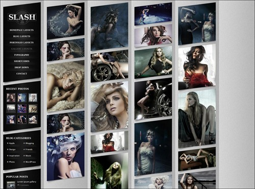 slash photography website template