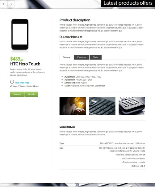 materia landing page template