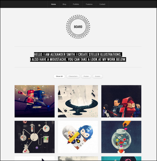 board-wordpress-portfolio-photo-theme