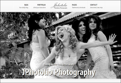 jphotolio photography website template