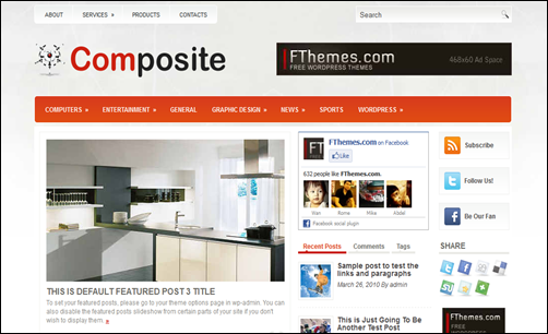 Composite – Free Brand New WordPress Themes