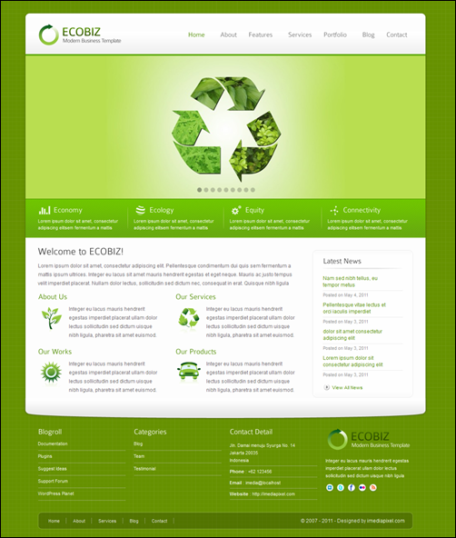 ECOBIZ - Modern Business temi wordpress