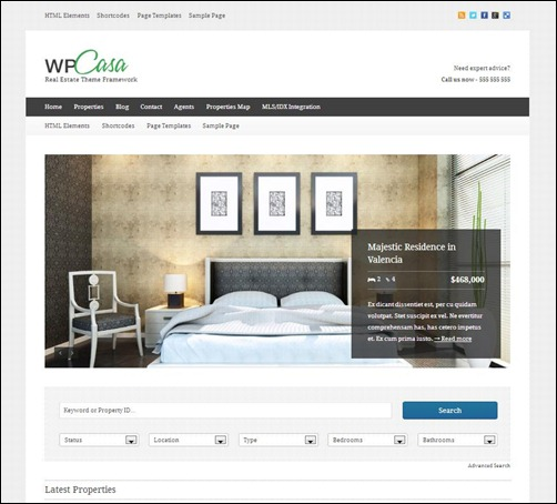 Real-Estate-WordPress-Theme-Framework