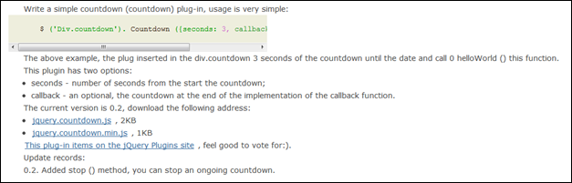 The Countdown jQuery plugin