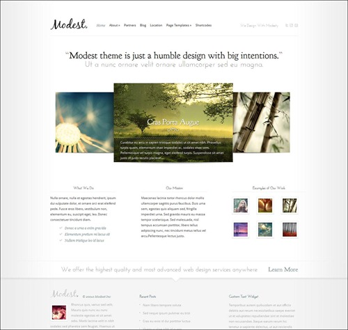 modest photography website template