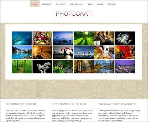 photoctrati photography website templates