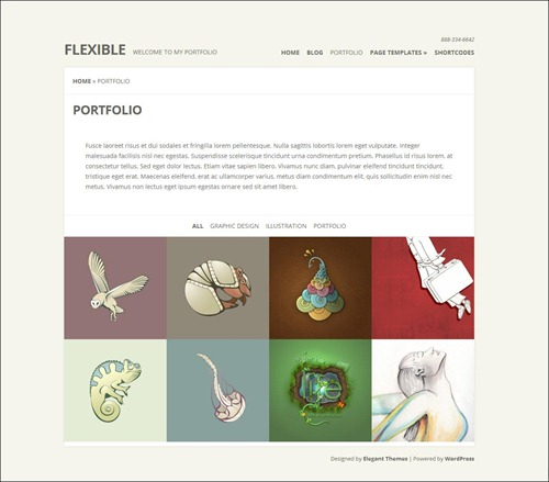 flexible photography website template